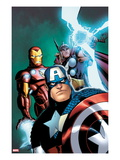 Avengers: Earths Mightiest Heroes 3 Cover: Captain America  Iron Man  and Thor