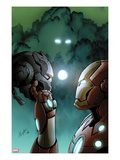 Iron Man 20 3 Cover: Iron Man Holding the Head of Another