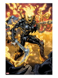 Ghost Rider No9: Ghost Rider Posing With Chains and Weapon