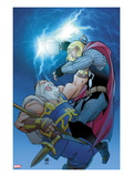 Thor 619 Cover: Thor and Odin Fighting