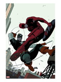 Daredevil No2 Cover: Daredevil and Captain America Fighting