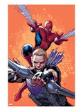 Avenging Spider-Man 4 Cover: Hawkeye and Spider-Man