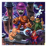 Marvel Super Hero Squad: Sentinel  Juggernaut  Mystique  Mole Man  Absorbing Man and Magneto Posing