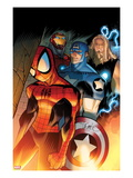 Ultimate Spider-Man 151 Cover: Spider-Man  Captain America  Thor  and Iron Man Standing