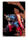 Captain America No8 Cover: Captain America Crouching