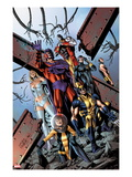 Uncanny X-Men 5341 Cover: Shadowcat  Wolverine  Magneto  Cyclops  Colossus  Namor  and Emma Frost
