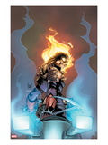 Ghost Rider No3 Cover:  Ghost Rider Looking over his Shoulder