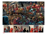 Ultimate Spider-Man 153: Panels with Spider-Man and Iron Man