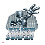 Marvel Super Hero Squad Badge: Silver Surfer Posing