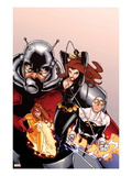 Onslaught Unleashed No2 Cover: Black Widow  Gravity  Firestar  and Ant-Man Running