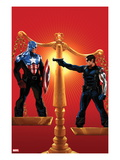 Captain America 615 Cover: Captain America and Winter Soldier on Opposing Sides of a Scale