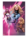 Women of Marvel No2 Cover: Invisible Woman  Songbird  and Shanna the She-Devil  Walking