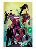 Avengers No8 Cover: Medusa  Professor X  Dr Strange  Mr Fantastic  and Iron Man