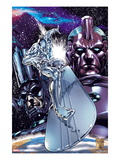 Silver Surfer No1 Cover: Silver Surfing Riding his Silver Surf Board in Space