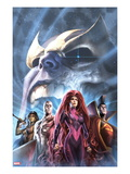 The Thanos Imperative: Devestation 1 Cover: Medusa  Gladiator  Silver Surfer  and Gamora