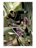 Daken: Dark Wolverine 6 Cover: Daken and Tyger Tiger Fighting