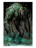 Thunderbolts 154 Cover: Man-Thing Walking at Night