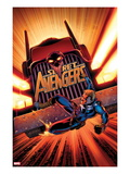 Secret Avengers 17 Cover: Steve Rogers Falling in front of a Truck