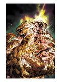 Fantastic Four 584 Cover: Thing Transforming