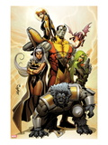 Astonishing X-Men 38 Cover: Storm  Beast  Colossus  Kitty Pryde  Lockheed  and Agent Abigail Brand