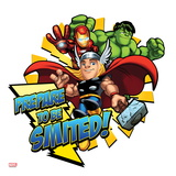 Marvel Super Hero Squad: Prepare to be Smited! Hulk  Iron Man  and Thor Posing