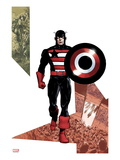 Captain America Corps 3 Cover: Captain America Walking with his Shield