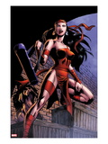 Herc 8: Elektra Posing in an Alleyway