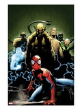 Ultimate Spider-Man 155 Cover: Spider-Man  Green Goblin  Sandman  Electro  and Vulture