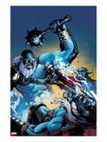 Marvel Adventures Super Heroes 13 Cover: Thor Fighting and Jumping
