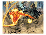 Ultimate Mystery No3: Human Torch and Nick Fury Flying