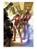 Invincible Iron Man 29 Cover: Iron Man and Rescue