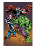 Marvel Adventures Super Heroes No21 Cover: Captain America  Hulk  and Dr Strange Posing