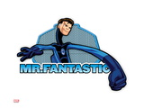 Marvel Super Hero Squad Badge: Mr Fantastic Stretching