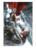 The Mighty Thor 12 Cover: Thor and Tanarus Fighting