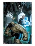 Fantastic Four 605 Cover: Thing and Nathaniel Richards