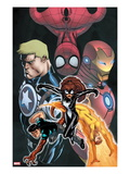 Avengers Academy Giant-Size 1 Cover: Spider-Girl  Firestar  Reptil  Iron Man and Others