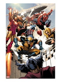 Annihilators: Earthfall 1: Wolverine  Captain America  Iron Man and Others Jumping and Falling