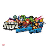 Marvel Super Hero Squad: Protecting Our City! Thor  Hulk  Cyclops  Iron Man  and Wolverine Running