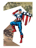 Captain America Corps 2 Cover: Captain America Standing in Salute