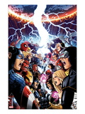 Avengers Vs X-Men 1 Cover: Captain America  Cyclops  Emma Frost  Gambit and Others Screaming