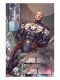 Steve Rogers: Super-Soldier Annual No1: Panels with Steve Rogers Standing