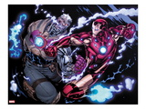 Avengers: X-Sanction 2: Cable and Iron Man Fighting