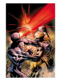 X-Men: Schism No4 Cover: Cyclops Fighting Wolverine with an Optic Blast
