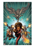 Heroes For Hire 12 Cover: Misty Knight  Iron Fist  Black Cat  Silver Sable  Paladin  Moon Knight