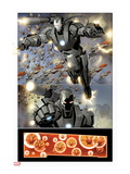 Invincible Iron Man 32: War Machine Flying