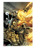 Daken: Dark Wolverine 4 Cover: Daken  Thing  Human Torch  Mr Fantastic  and Invisible Woman