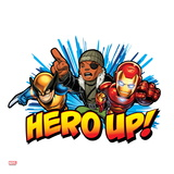 Marvel Super Hero Squad Badge: Hero Up! Nick Fury  Wolverine  and Iron Man Charging