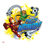 Marvel Super Hero Squad: Fully Armed! Iron Man and Doctor Octopus Flying