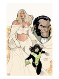 Uncanny X-Men 529 Cover: Emma Frost  Shadowcat  and Sebastian Shaw Posing