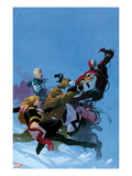 Uncanny X-Force No5 Cover: Fantomex  Ms Marvel  Steve Rogers  Hawkeye  Thing  and Spider-Man